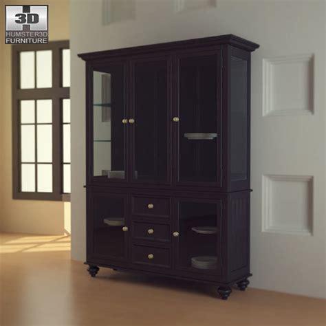 Lq Lea Navy black camden china cabinet lea american drew 3d model hum3d