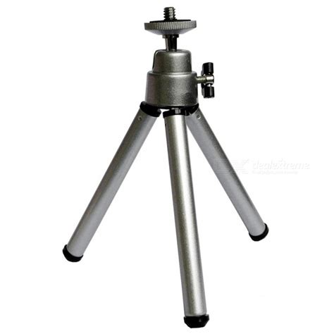 Tripod Mini Holder U Silver Gratis Paket Hadiah aluminum alloy telescopic mini tripod support holder bracket for mobile phone silver