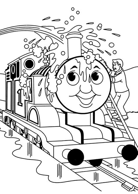 47 best and free printable train coloring pages