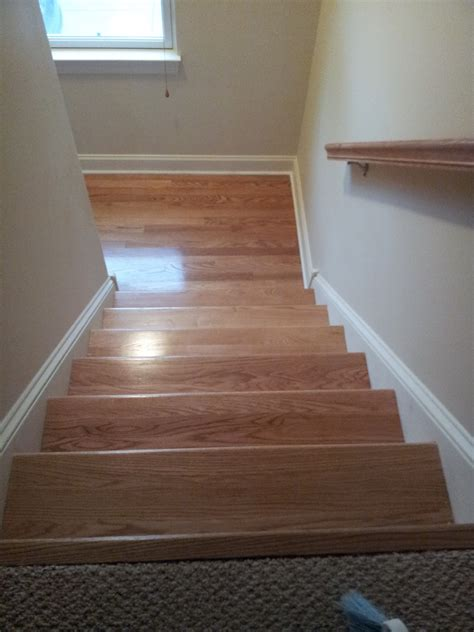 Hardwood Floor Stairs Floor Installation Photos Oak Hardwood Stair Refinishing