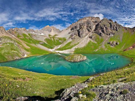 lake  san juan national forest colorado nature landscape