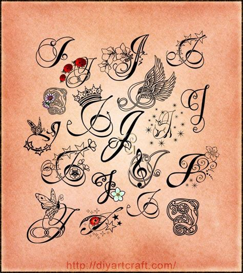 tattoo fonts b lettering j poster