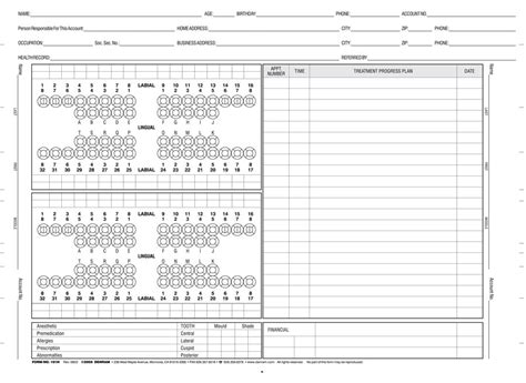 dental chart template 6 best images of dental charting chart dental tooth