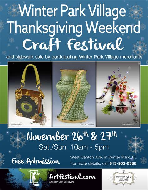 craft festival winter park thanksgiving weekend craft festival