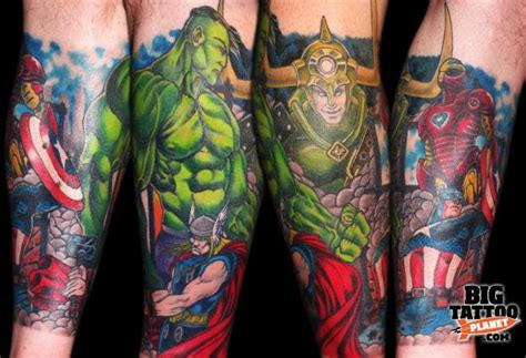 avengers tattoo sleeve thoughts tattoos