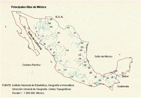 map of rivers in mexico mexico rivers map mexico mappery