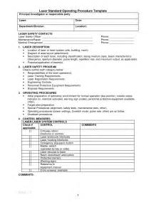 template for standard operating procedures manual standard operating procedures template beepmunk