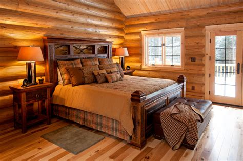 cabin style bedroom reclaimed wood rustic cabin bed rustic bedroom other