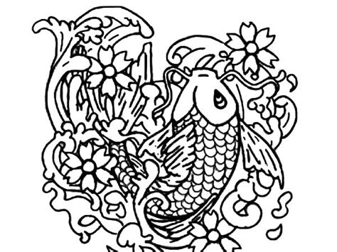 printable coloring pages koi fish koi fish coloring page t8ls com