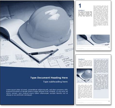 free construction template word royalty free construction microsoft word template in blue