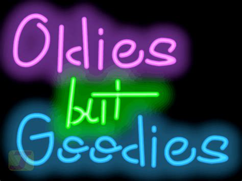 oldies  goodies neon sign fm   jantec neon