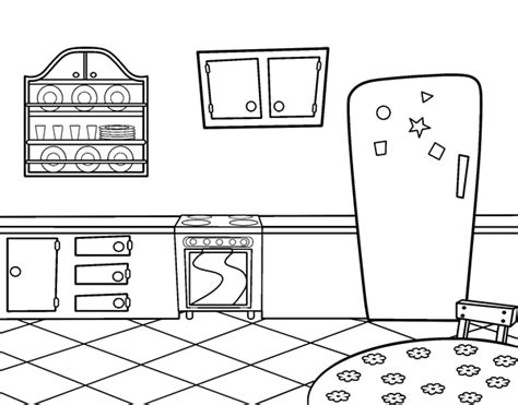 coloring page kitchen traditional kitchen coloring page coloringcrew