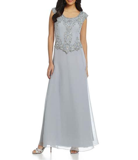 cap sleeve beaded gown jkara cap sleeve floral beaded bodice gown dillards