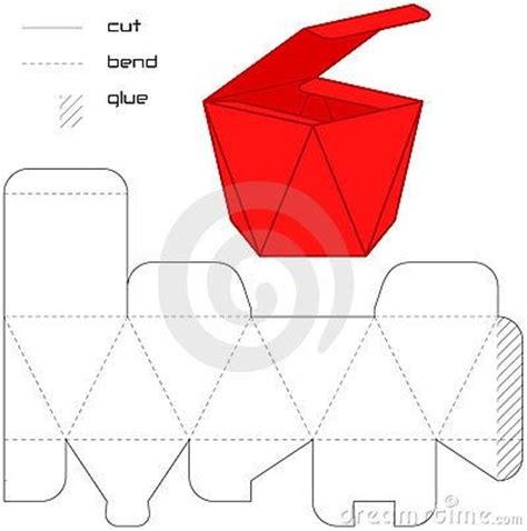 Origami Paper Template - template present box cut square scatole box