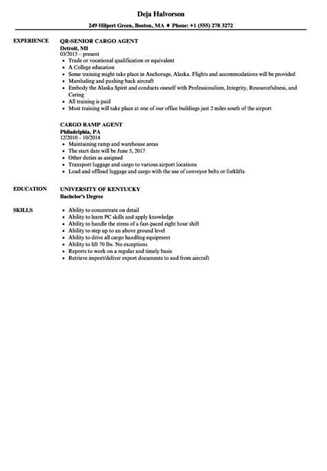 airport ramp agent resume sample best format