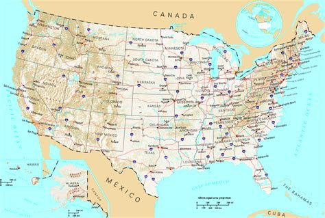 america map geographical yhdysvaltain maantiede
