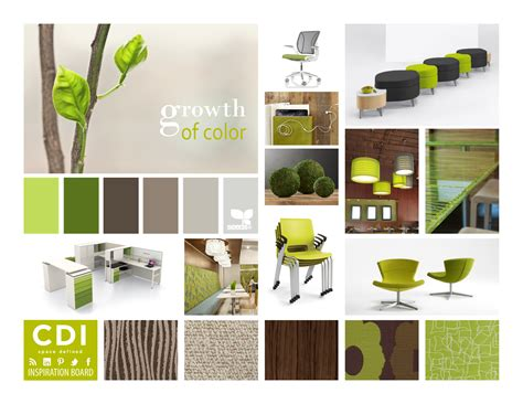 design inspiration by color inspiration board growth of color cdi blog