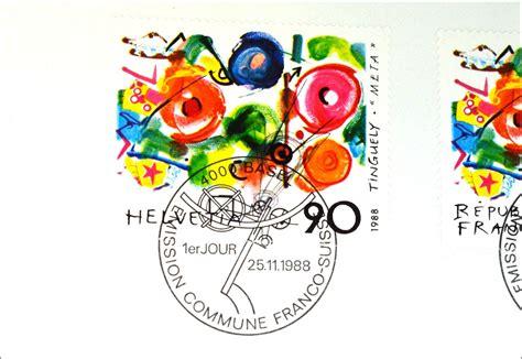 Brief Frankieren Schweiz Frankreich Frankreich 2693 Schweiz 1380 Kunst Brief Gemeinschatsausgabe Joint Issue 1988 183 Briefmarkenhaus