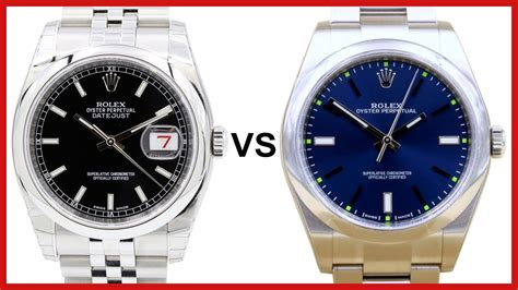 Rolex Giveaway 2017 - rolex datejust 36 vs rolex oyster perpetual 39 comparison date vs no date dress