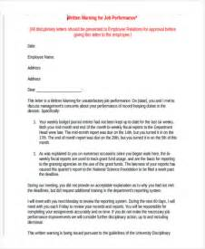 Letters To Staff Templates 6 staff warning letter template 6 free word pdf