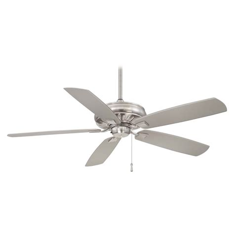 ceiling fans nickel finish ceiling fan without light in brushed nickel wet finish