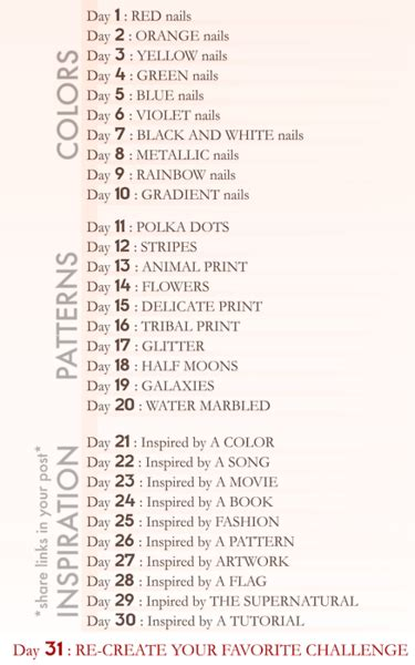 list of challenges 30 day challenge list aly lacquer