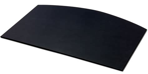 Black Leather Desk Mat by P1022 Black Leather 34in X 24in Arched Desk Mat Without