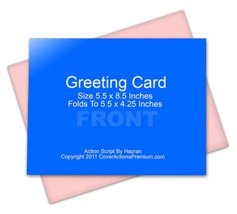 a2 folded cards template a2 size half fold greeting card cover actions cover