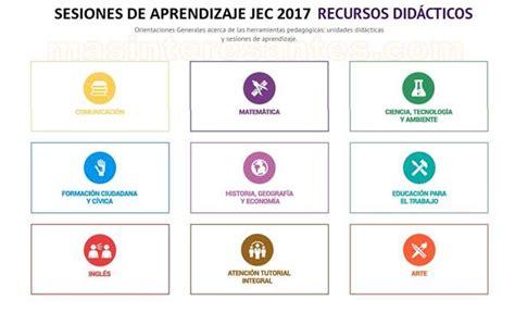 sesiones tutoriales de la jec sesiones de aprendizaje jec 2017 y recursos educativos