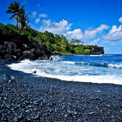 black sand beach maui maui black sand beach i love maui pinterest