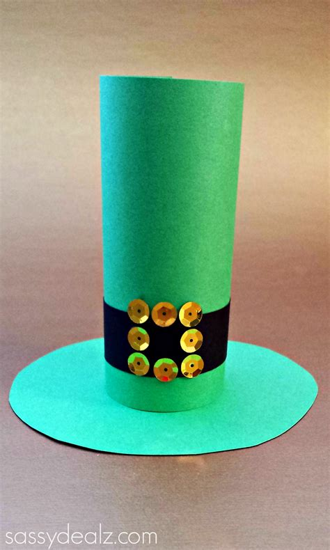 Paper Craft Hats - leprechaun hat toilet paper roll craft for st s