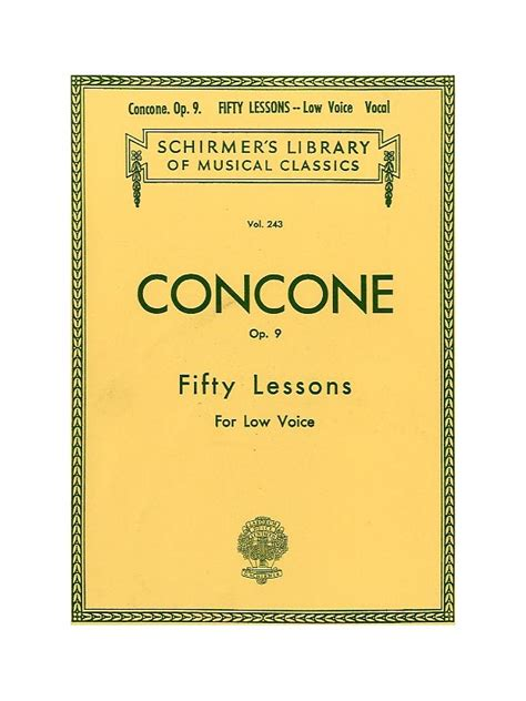 0044082428 melodies low voice and piano sheet music giuseppe concone fifty lessons for high