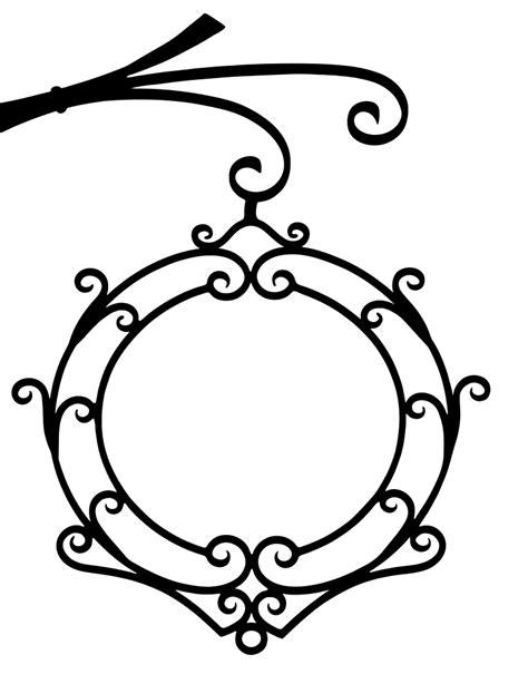 OnlineLabels Clip Art - Vintage Wrought Iron Flourish