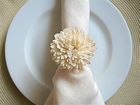 wedding reception place setting napkin ring onewed