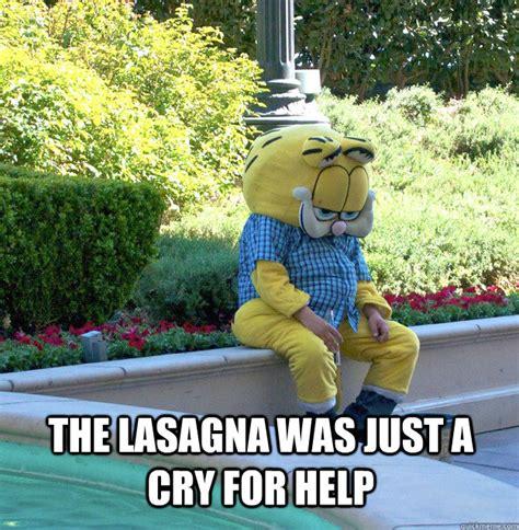 Lasagna Meme - sad garfield memes quickmeme