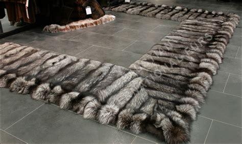 real fur rug 368 saga silver fox fur bedside rug real fur rug genuine fur