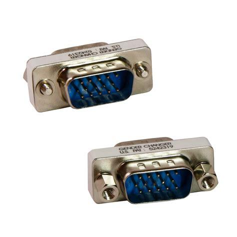 Converter Gender Vga M M 15 pin hd hd15 svga vga m m to gender bender