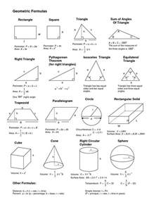 area formula 78 best images about geometry cheat sheets on pinterest