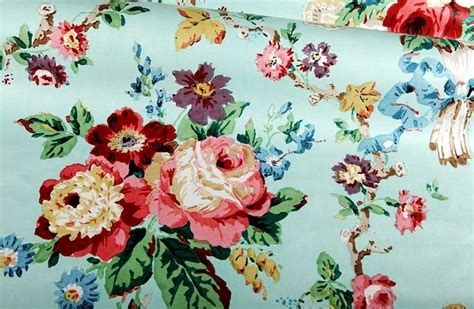 Floor And Decor Reviews chatsworth chintz upholstery fabric in aqua farmhouse