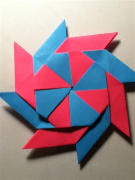 Origami Shuriken 8 Point - how to make a 8 point transforming snapguide