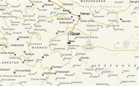 qom iran map qom location guide