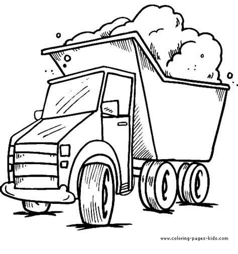little blue truck coloring sheet coloring pages