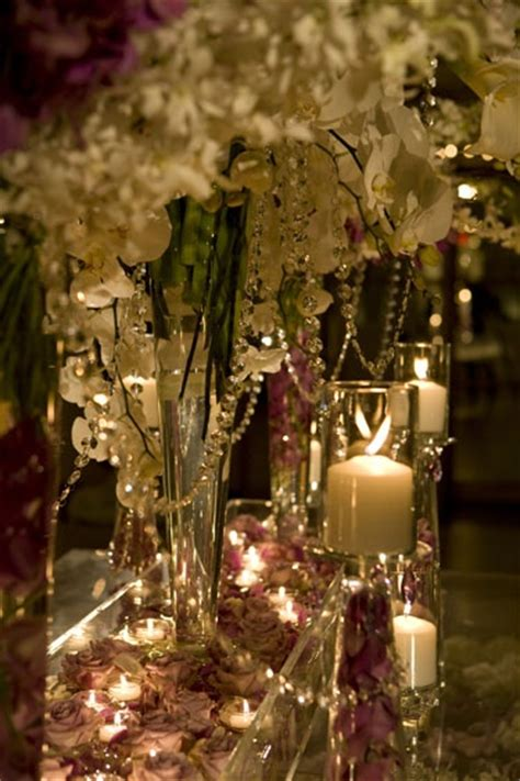 I Like The Crystal Beading Hanging From These Centre David Tutera Centerpieces