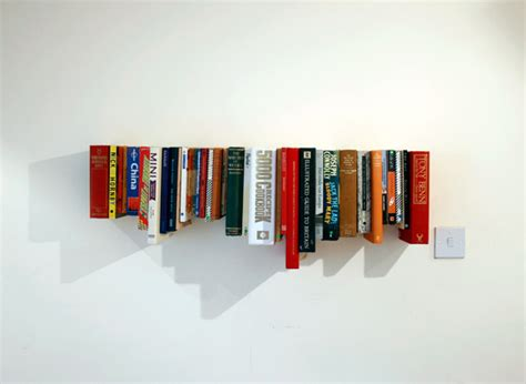 book shelf made from books inhabitat sustainable