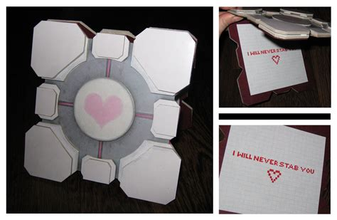 Companion Cube Papercraft - companion cube card by batman n bananas on deviantart