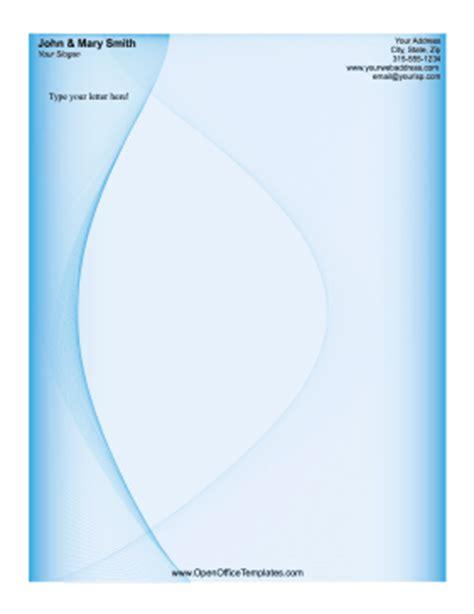 business letterhead template open office blue swirl letterhead openoffice template
