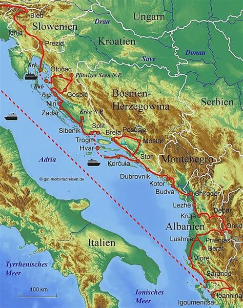 Motorradreise Routenplaner by Adriak 252 Ste Kroatien Karte My