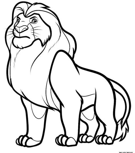 lion king coloring pages online mufasa disney the lion king coloring pages online free