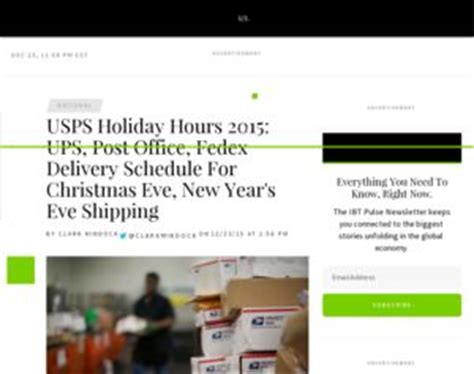 Post Office Hours New Years by Usps Hours 2015 Ups Post Office Fedex Delivery