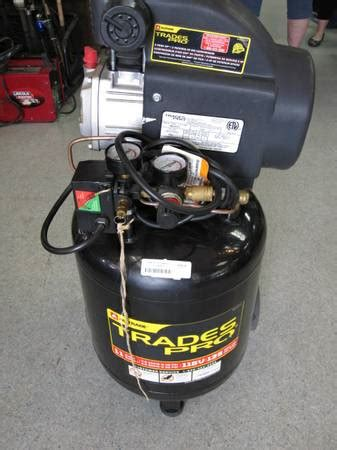 trades pro air compressor espotted